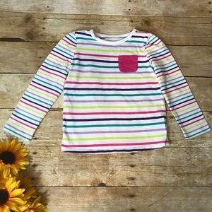 Jumping Beans rainbow stripe T-shirt. Size 4t